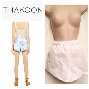 ⭐️HP⭐️Thakoon white button front shirt hem shorts